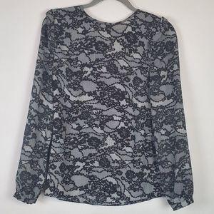 MICHAEL Michael Kors long sleeved lace pattern top